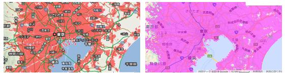東京周辺のエリア
