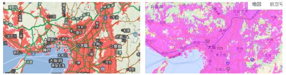関西周辺のエリア